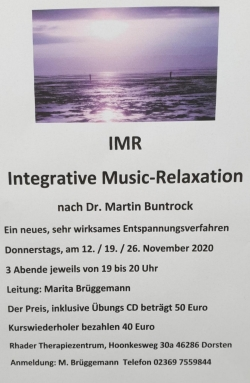 Integrative Music-Relaxation nach Martin Buntrock